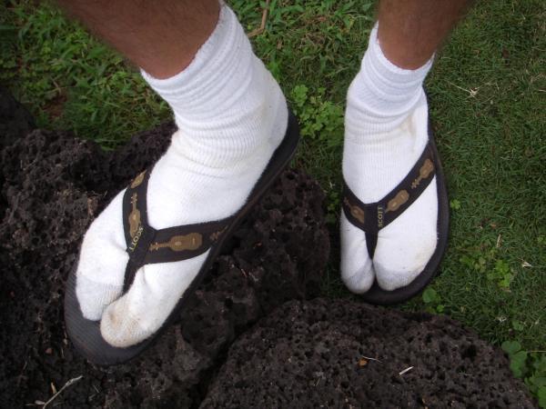 death by socks-n-sandals/flip-flops
